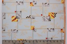 1930's Vintage Wallpaper Black and Yellow by RosiesWallpaper