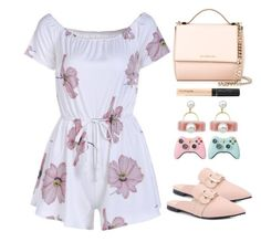 """Floral Romper"" by simona-altobelli ❤ liked on Polyvore featuring Givenchy and Maybelline"
