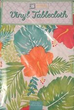 Exceptionnel Tropical Leaves Hibiscus Vinyl Tablecloth 52 X 70 Oblong