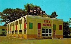 1960s City Motel UTICA NEW YORK Vintage Postcard by Christian Montone, via Flickr