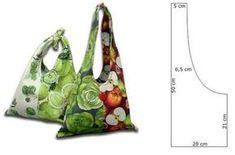 Ceci EuQfiz: Easy fabric bag with mold Purse Patterns, Sewing Patterns, Easy Patterns, Paper Patterns, Embroidery Bags, Embroidery Patterns, Denim Bag, Denim Jeans, Fabric Bags