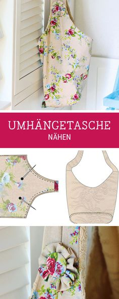Näh Dir Deine eigene Umhängetasche als Begleiter für den Alltag und Urlaub, Nähanleitung Tasche / diy sewing pattern for a big shopper bag via DaWanda.com