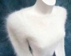 River Island Very Soft & Fluffy White 79% Angora Sweater - Gorgeous! (WB) | eBay