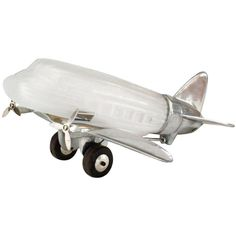 French Art Deco Style Chrome and Glass Airplane Table Lamp   From a unique collection of antique and modern table lamps at http://www.1stdibs.com/furniture/lighting/table-lamps/