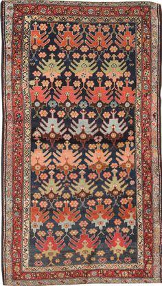 "Persian rug, 3""8 x 6""2, Circa 1920, Landry and Arcari gallery"
