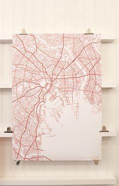 modern map art