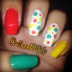 Twister-ish Dotticure by @ritza1986 via ink361.com