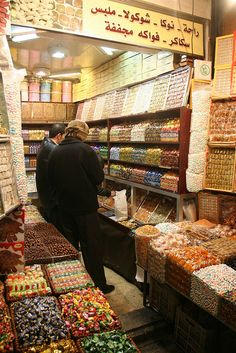 Damascus, Syria~~candy store...it's a long way from Elbow!