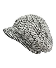 This Black & White Marled Angora-Blend Brimmed Beanie by B&B Couture is perfect! #zulilyfinds