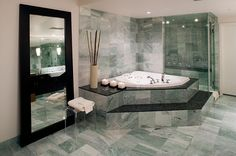 Contemporary, Modern, Jetted/Whirlpool, Master, Glass Panel