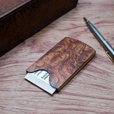 http://etsy.me/2zwUDy2 Handmade Wooden Business Card Holder Bubinga pommele Эксклюзивные визитницы ручной работы из экзотических пород дерева: Бубинга помеле (Африка) #bagsandpurses #cardholder #businesscardholder #pocketcardholder #stylishaccessory #woodenbusinesscard