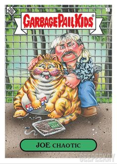 Garbage Pail Kids have Gone Exotic! Hello all you cool Garbage Pail Kids fans! We saw a tiger documenary, and a tiger documentary saw us, so enjoy this wild 10 card Garbage Pail Kids set! Garbage Pail Kids Cards, Kids Fans, Kids Stickers, Trading Card Database, Animal Party, Cool Cats, Exotic, Ebay, King