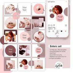 Instagram Feed Layout, Feeds Instagram, Instagram Grid, Instagram Post Template, Instagram Design, Instagram Posts, Insta Layout, Web Design, Social Design