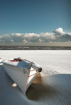 ☼ Life at the beach - withe sand white boat white cloud simply beautiful
