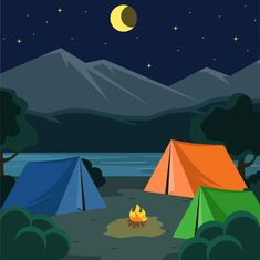 Tent Camping Pictures - Primitive Camping With Kids - Camping Aesthetic - Camping Theme Snacks Camping Ideas, Camping Theme, Camping Hacks, Tent Camping, Camping Gadgets, Camping Checklist, Camping Activities, Camping Essentials, Camping Illustration