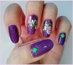 Unghiutze colorate-Happy nails: NOTD-Purple Mix&Match Manicure