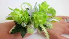 Green Corsages for Prom | Faux Wedding Corsage Anniversary Corsage by WeddingsAndWreaths
