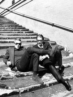 endlessme: Steve McQueen and Justin Tarr photographed by Barry...