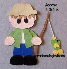 Fishing Boy Paper Piecing