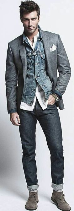 Men's Jackets For Every Occasion. Photo by Menswear Market Jackets are a must-have in the cold weather but it can also be used to accessorize an outfit. There is almost an unlimited number Mode Masculine, Sharp Dressed Man, Well Dressed Men, Fashion Mode, Mens Fashion, Fashion Trends, Fashion Styles, Fashion Ideas, Fashion 2016