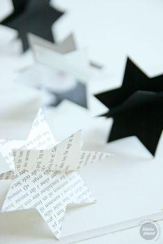Enkel stjernepynt! Easy star christmas decorations! #ornaments #DIY