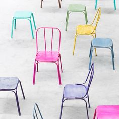 Downtown Industrial Metal Chairs (16 colours)