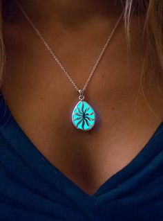 Georgeous handmade Glow in the Dark Necklace. Handmade with love and care. Stand out from the crowd with this awesome glowing necklace!