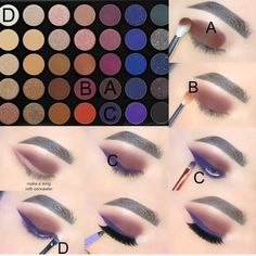 rosy red eye makeup look James Charles palette with morphe Makeup Eye Looks, Eye Makeup Steps, Eye Makeup Art, Eyeshadow Looks, Skin Makeup, Beauty Makeup, Fall Eyeshadow, Makeup Blog, Makeup Inspo