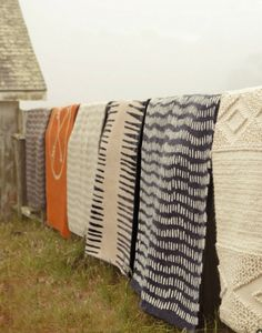 long line of woven textiles Design Textile, Textile Patterns, Textiles, A Well Traveled Woman, Rugs On Carpet, Home Accessories, Home Goods, Sweet Home, Weaving
