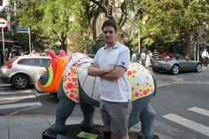 Rino Mania  Rüno: Rinoceronte de Dürer  Artista Quim Alcantara  Rua Oscar Freire X Rua Bela Cintra - Jardins, São Paulo SP  quim.com.br     For topics and discussion on mental illness  go www.mybrainsick.com.