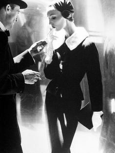 """Photo by Lillian Bassman, """"a forgotten doyenne of ethereal black-and-white fashion photography of the 60s"""" (3/3)"""
