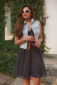 |Dress| Veromoda| Denim Vest| Shoes| Steve Madden| Watch| Guess| Belt| New Look| On my lips| Ririwoo by Mac| Accessories| Daily Feature| Fashion| Blogger| Hair| Vintage| Makeup| Vintage| Vibes|