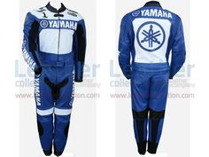 Yamaha Racing Leather Suit Blue / White  https://www.leathercollection.com/en-we/yamaha-racing-leather-suit-blue-white.html  #Yamaha_Leather_Suit, #Yamaha_Racing, #Yamaha_Racing_Leather_Suit_BlueWhite