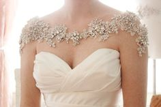 Crystal Bridal Bolero Hochzeit Anweisung von abigailgracebridal