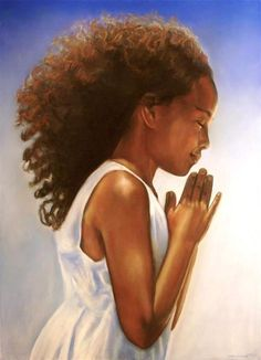 Prayer for the young African American girl. Black Love Art, Black Girl Art, My Black Is Beautiful, Art Girl, African American Art, African Art, American Girl, Natural Hair Art, Natural Hair Styles