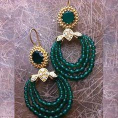 Buy Green Onyx Earrings 110JE38 online - JaipurMahal ethnic online store |Rajasthan jewellery |Handicraft | gift shop | Handmade products| Wedding gift online | Jaipur online for India |Rajasthani Jewellery, Crafts
