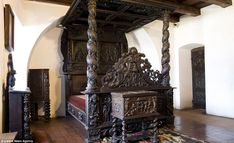 It is the hilltop fortress that supposedly has ties to Dracula. These spectacular images show the interior of Bran Castle, the Romanian 'home' of the great vampire. Bran Castle Romania, Dracula Castle, Vlad The Impaler, Castle Howard, Dark Castle, Count Dracula, Antique Beds, Grand Designs, Architecture Details
