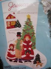 Bucilla Applique Holiday Stocking Felt Kit a Dickens Christmas Carolers 82824 18 for sale online Christmas Stocking Kits, Vintage Christmas Stockings, Felt Stocking, Xmas Stockings, Christmas Carol, Christmas Holidays, Christmas Crafts, Christmas Decorations, Stocking Ideas