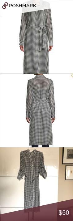 Calvin Klein lightweight dress This elegant sheer Gingham print shirt dress  is from the 2018 season 59d5bb80aae