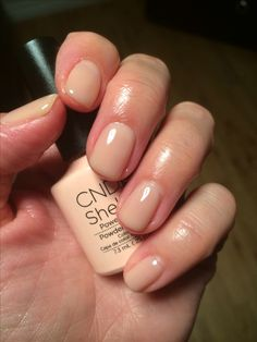 CND Shellac Powder My Nose A nice natural semi-sheer colour which has a neutral base shade. Works great in combination with other CND Shellac colours - take a look at my CND Shellac - Colour Combos board!