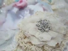 Tattered Muslin Rose Tutorial & Fabric Flowers - YouTube