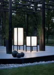 Portable outdoor garden lamp