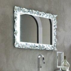 specchio e specchiera bagno retroilluminato led bluetooth orion ... - Specchi Arredo Bagno