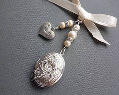 Charming Bridal Wedding Bouquet Photo Charm Memory Filigree