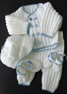 This coming home/baptism outfit crochet pattern is designed to fit a newborn to . - - This coming home/baptism outfit crochet pattern is designed to fit a newborn to old infant. The file includes instructions for making all the. Boy Christening Outfit, Baptism Outfit, Baby Boy Baptism, Häkelanleitung Baby, Baptism Clothes, Baby Boys, Vestidos Bebe Crochet, Crochet Bebe, Boy Crochet