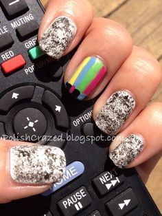 TV Stand By Nails. Old-school original, I like it.