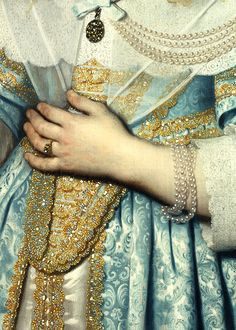 Bartholomeus van der Helst, Portret van een meisje (detail), 1645