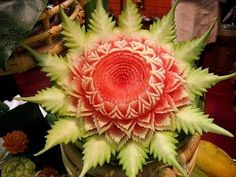 Food carving designs for center table decoration