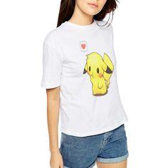 2016 Summer New Style Popular Unisex Pokemon T Shirt Women Pikachu Print Blusa Tees Short Sleeve Tops Tee Shirt Femme Cute Tshirts, Summer Tshirts, Couple Outfits, Couple Clothes, Couple Tees, Pikachu, T Shirts For Women, Clothes For Women, Blouse