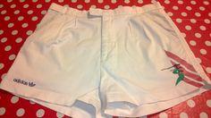 Original 80's Vintage ADIDAS Cotton Tennis Bermuda - Shorts. Colour White di RCClo su Etsy